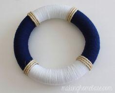 Hello Summer! Summer Nautical Wreath | Making Home Base.com