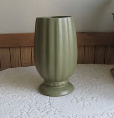 Green McCoy Planter Floraline Footed Vase Florist Ware Sage Colored Pottery #495 USA Vintage Planters and Pots
