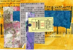 Creative Explorer: single staple collage for all elements held onto a index card with a single staple Rolodex, Index Cards, Foam Crafts, Small Art, Journal Pages, Atc, Art Journals, Postcards, Photo Art