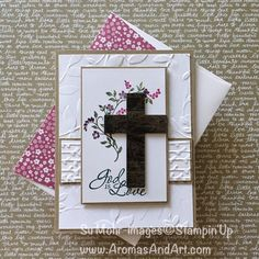 I need to start making Easter cards, and the Hold on to Hope stamp set is perfect for just that! I shall start with an old, wooden cross. I used a die from the Cross of Hope die set to cut the cross from Wood Textures Designer Series Paper. I cut several more crosses from …