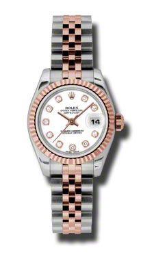 Rolex Datejust Automatic Stainless Steel w/ 18kt Rose Gold Ladies Watch 179171WDJ