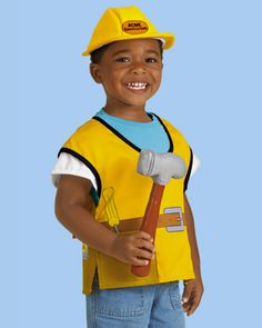 Toddler Construction Worker Costume at Lakeshore Learning
