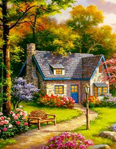 Gardens Discover New landscape house painting beautiful Ideas Beautiful Paintings Beautiful Landscapes Landscape Art Landscape Paintings Kinkade Paintings Beautiful Pictures Beautiful Places Acrylic Painting Tips Scenery Paintings Fantasy Landscape, Landscape Art, Landscape Paintings, Abstract Paintings, Art Paintings, Painting Art, Beautiful Paintings, Beautiful Landscapes, Kinkade Paintings