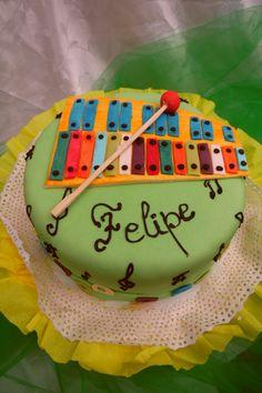 Torta de xilofon para niño