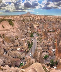 Old shaped beautiful City Cappadocia, Turkey l Places to visit l Travel destination l Tourism Places Around The World, The Places Youll Go, Places To See, Beautiful Places To Visit, Wonderful Places, Amazing Places, Amazing Photos, Places To Travel, Travel Destinations