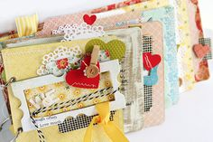 Cute mini album by Danielle Flanders with so many cute details.