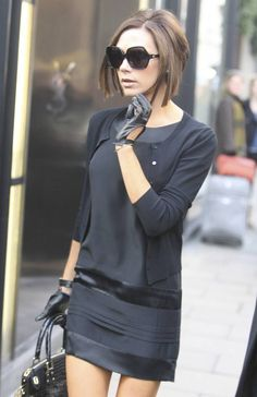 Victoria Beckham Picture 271 - the very reason WHY I wanted to find patent leather black driving gloves in the first place. VB's Blackout outfit = fierce.