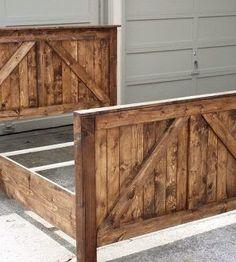 beautiful rustic barn door bed farmhouse style #rusticbeddingfurniture