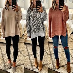 Winter Fashion Trends 2020 for Casual Outfits – Fashion Cute Sweaters For Fall, Sweaters And Jeans, Hot Fall Outfits, Casual Outfits, Simple Fall Outfits, Women's Casual, Girl Outfits, Fashion Outfits, Fall Fashion Trends