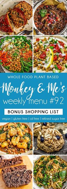 Monkey and Me's Menu 92 features delicious, wholesome recipes! All are Whole Food Plant Based Diet, vegan, oil free, refined sugar free & gluten free. Healthy Sauces, Healthy Appetizers, Healthy Desserts, Clean Eating Soup, Healthy Eating, Whole Food Recipes, Side Recipes, Lunch Recipes, Vegetarian Recipes