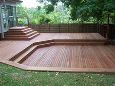 Large back yard merbau deck   precision decking. i would love this in my back yard