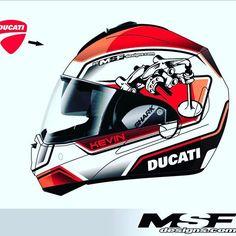 Customers new helmet design @shark_helmets @ducatiusa @ducatistagram #ducati #custompaint #customhelmet #customhelmetpaint #graphicdesign #helmet #helmetart #helmetpaint #helmetpainting #usa #italy #msfdesigns