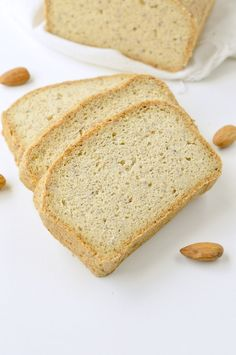 KETO ALMOND FLOUR BREAD is an easy low carb bread loaf recipe with a delicious bread texture and NO eggy flavor! Also, it is paleo and gluten free Keto Bread Coconut Flour, Keto Flour, Peanut Butter Bread, Keto Banana Bread, Sugar Bread, Best Keto Bread, Almond Flour Recipes, Low Carb Bread, Blueberry Bread
