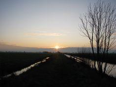 zonsopgang in het Groene Hart