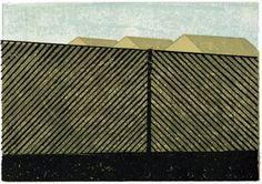 Stadt Land - Franziska Neubert Lärmschutzwall I, 15 x 21 cm, Linolschnitt, Auflage