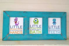 Children's Bathroom Artwork/kids room by TurquoiseFarmHouse