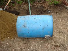 step-by-step how to make a dog poop composter...picture of Preparing the Vessel