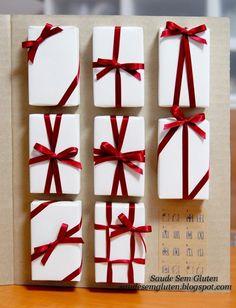 Os laços de fita dão um toque especial a qualquer pacote de presente.   https://www.facebook.com/BazarArtesanato
