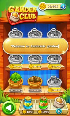 Garden Mania 2 by Ezjoy - Garden Club/Earn boosters/money - Match 3 Game - iOS Game - Android Game - UI - Game Interface - Game HUD - Game Art