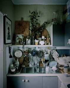 kitchen layers. Fun eclectic well worn kitchen