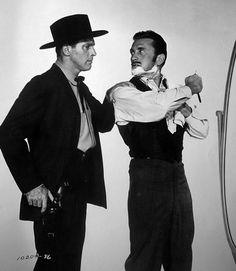 "burt lancaster, kirk douglas (""gunfight at the o.k. corral"", 1957 dir. john sturges)"
