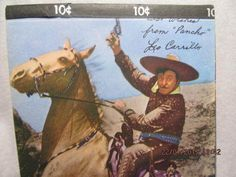 1950s Tablet W Leo Carillo As Pancho On Cover Cisco Kid TV Show Pages Unused