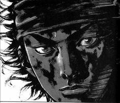 Miyamoto Musashi (Shinmen Takezō), manga by Takehiko Inoue Book Of Five Rings, Vagabond Manga, Inoue Takehiko, Another Part Of Me, Miyamoto Musashi, I Love Anime, Manga Anime, Monochrome, Fan Art