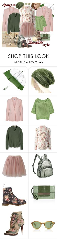 """""""What's style you prefer?"""" by steka ❤ liked on Polyvore featuring Burberry, Hunter, Vero Moda, RED Valentino, Chicwish, Alexander Wang, Dr. Martens, Emilio Pucci and Moscot"""