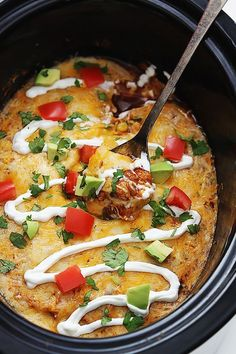 Slow Cooker Enchilada Quinoa | 21 Vegetarian Dump Dinners You Can Make In A Crock Pot