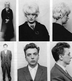 myra hindley's and ian brady's mugshots.