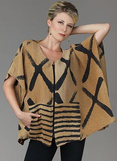 This Kay Chapman vest has wonderful pockets and is great layered or alone (see preceding brown/rust/black version of the same vest), in wool, silk, bamboo. Community Art, Wearable Art, Rust, Bamboo, Textiles, Pockets, Wool, Silk, Brown