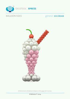 Balloons It Ice Cream General DecoTool Xpress Balloon Show, Love Balloon, Ballon Arch, Balloon Columns, Balloon Ceiling, Ballon Decorations, Balloon Centerpieces, Shower Centerpieces, Balloons Galore