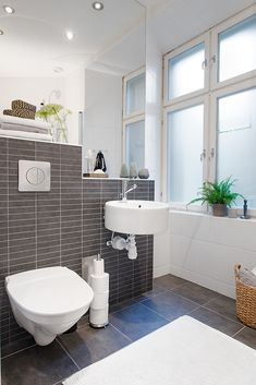 #interior #decor #styling #scandinavian #bathroom #white #grey #plants