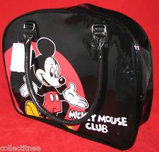 Mickey Mouse Club Purse Tote Gym Travel Hand Bowler Style Large Bag NEW