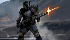 The Mandalorian concept art revealed at the end of the first episode of the Star Wars series has been officially released online without credits text. Star Wars Jedi, Star Wars Rpg, Baby Groot, Boba Fett, Jama Jurabaev, Mandalorian Armor, Star Wars Concept Art, Star Wars Pictures, Armor Concept