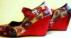 San Francisco 49ers Heels! Email BrookeBader1 @gmail.com to order. $45