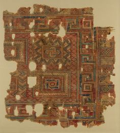 Fragment Date: 4th–5th century Geography: Egypt, Antinopolis Culture: Coptic Medium: Wool (warp, weft and pile); symmetrically knotted pile Accession Number: 31.2.1