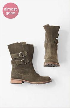 double-buckle boots by J.Jill