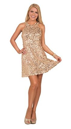 27caaefa1467e Selling this Gold sequin dress in my Poshmark closet! My username is   blairann.
