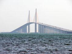 Sunshine Skyway Bridge | File:Sunshine-skyway-bridge- The biggest bridge I have ever been on