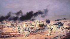 British 3rd Fuciliers over run an Iraqi 155mm Artillery Position