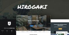 cool Hirogaki - Multipurpose Landing Web page WordPress Themes (Advertising and marketing)