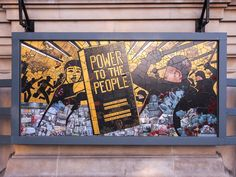 """Power to the People"" ""Art is not a mirror to reflect the world, rather it is a hammer with which to shape it."" ~ Carrie Reichardt & the Terminal Rooms Collective, mosaic tile art on the front of a UK museum's ""Disobedient Objects"" exhibit Carrie, Sociological Imagination, Protest Art, Social Art, Positive Images, Power To The People, The V&a, Victoria And Albert Museum, American Civil War"