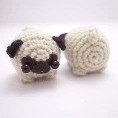 This amigurumi kit contains everything you need to crochet your very own little pug dog. The amigurumi pug will be about / long when finishe. Kawaii Crochet, Cute Crochet, Crochet Crafts, Yarn Crafts, Easy Crochet, Crochet Baby, Crochet Projects, Knit Crochet, Crochet Animal Patterns