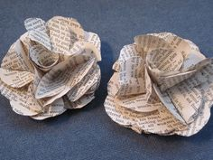 alneff | Vintage Paper Flower Clips Upcycled Book Pages by ReaDo on Etsy, $10 ...