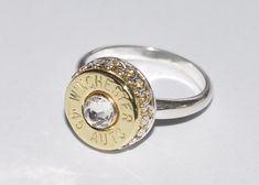 223 Nickel Bullet Adjustable Ring by BulletDesigns on Etsy 1495