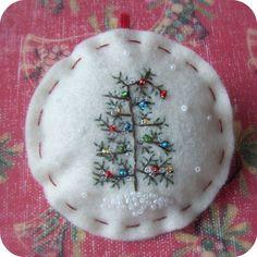 The Last Tree on the Lot - Felt Christmas Ornament in Cream