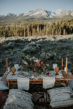 Brought to you by Emily Aitken Events and Maggie Grace Photography, plan your adventurous elopement with ease thanks to this Idaho elopement package! Elope Wedding, Boho Wedding, Summer Wedding, Fall Picnic, Picnic Set, Picnic Decorations, Romantic Picnics, Mountain Elopement, Elopement Inspiration