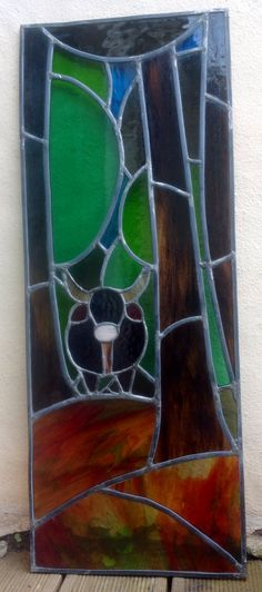 The cow - stained glass