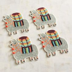Pier 1 Imports Llama Beaded Coasters, Set of 4 #affiliate